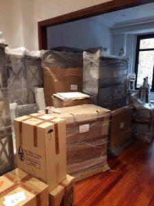 muebles embalados de vaciado de piso