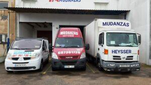 los camiones de la empresa