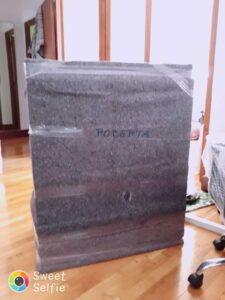 lavadora con mantas